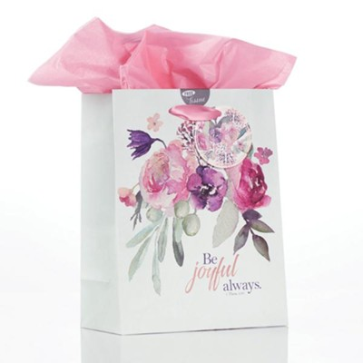 Be Joyful Always Gift Bag, Medium  -