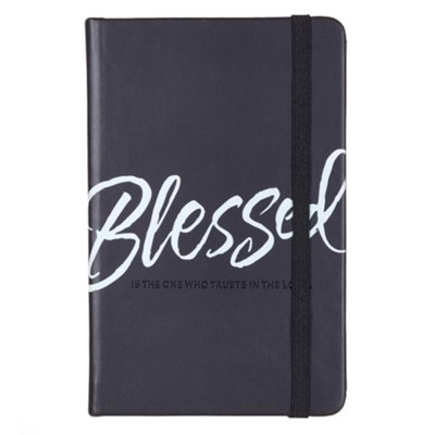Blessed Notebook--lux leather, black  -