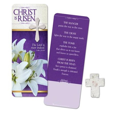 Christ Is Risen, Plantable Seed Cross and Bookmark  -