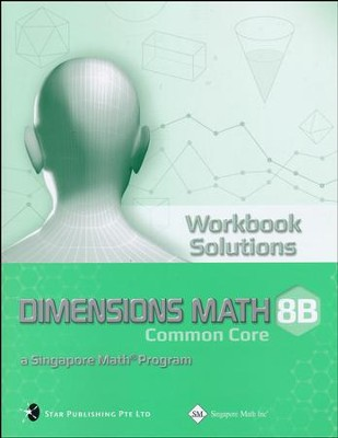 Dimensions Math Workbook solutions 8B   -