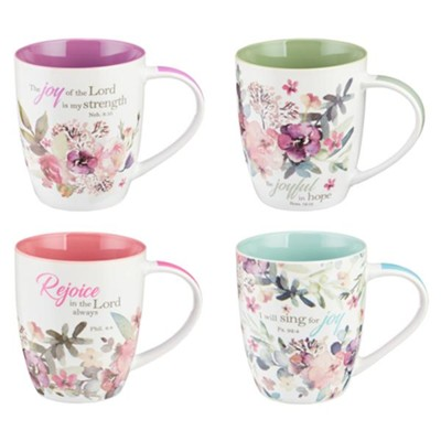 Rejoice Mugs, Set of 4  -