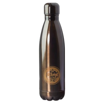 In Christ Alone, Stainless Steel Water Bottle, Brown  -
