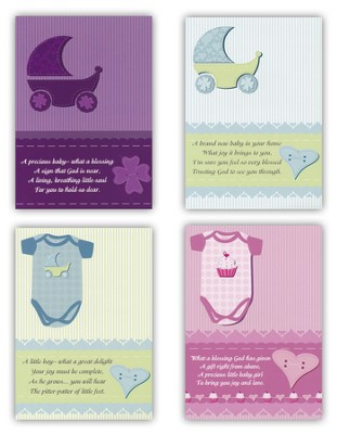 Little Ones Baby Congratulations Cards, Box of 12  -