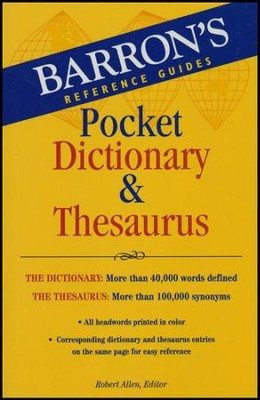 Barron's Dictionary & Thesaurus  -     By: Robert Allen