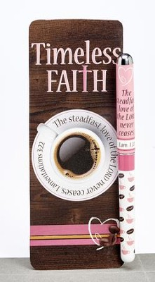 The Steadfast Love Of the Lord Never Ceases Pen and Jumbo Bookmark Set  -