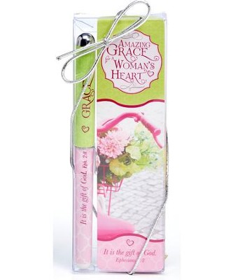 Amazing Grace For A Woman's Heart Pen and Bookmark Set  -