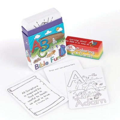 ABC Bible Fun Coloring Cards, Box of 52  -