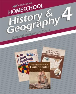 Abeka Homeschool History & Geography 4 Curriculum/Lesson  Plans   -