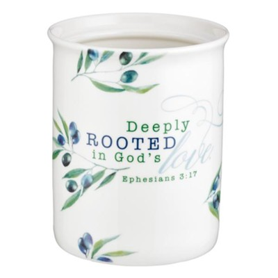 Deeply Rooted in God's Love Utensil Holder  -