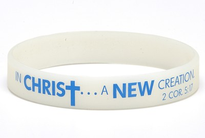 Spring To life, In Christ, A New Creation Color Changing Silicone Bracelet  -