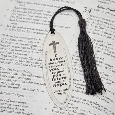 I Know the Plans Tassel Bookmark  -