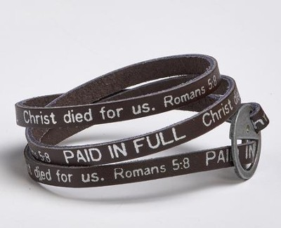 Paid In Full, Leather Wrap Bracelet  -