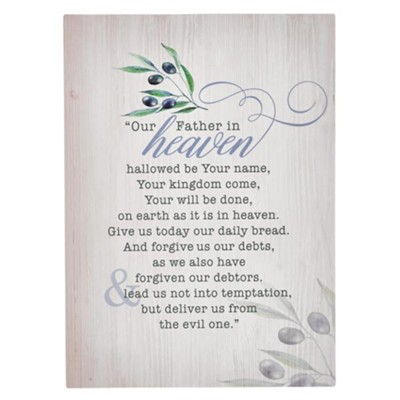 The Lord's Prayer Wall Plaque  -