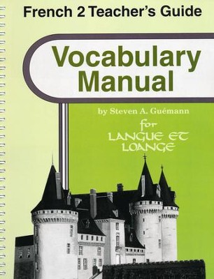 Abeka Langue et louange French Year 2 Vocabulary Manual  Teacher Guide  -