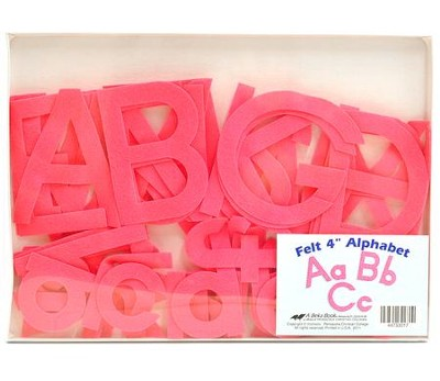 Abeka Felt Alphabet (Preschool-K5; 52 pieces)   -