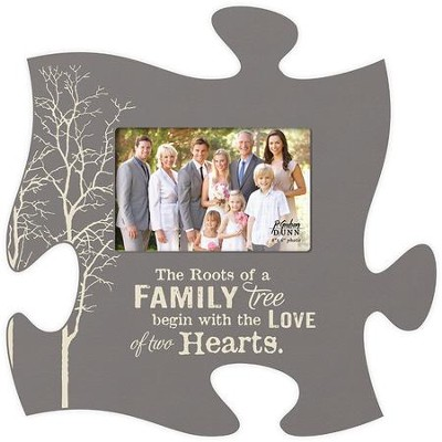 The Roots Of A Family Tree, Puzzle Piece Photo Frame  -