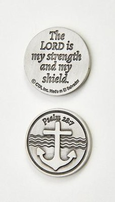 The Lord is My Strength and Shield Pocket Token and Card  -