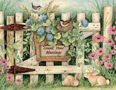 Count Your Blessings, Garden Gate Blank Note Cards  Box of 13  -     By: Susan Winget