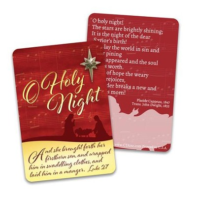 O Holy Night Lapel Pin & Card  -