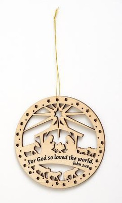 John 3:16 Laser Cut Wooden Ornament  -