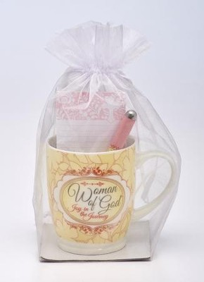 Woman of God Mug, Pen, Notepad Gift Set   -
