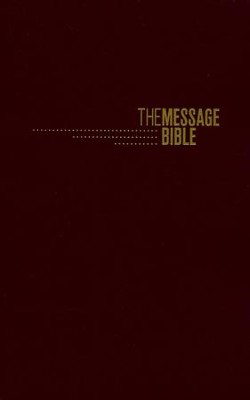 The Message Gift and Award Bible, Imitation Leather, Burgundy  -     By: Eugene H. Peterson