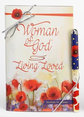 Living Loved, Pen and Devotion Book Gift Set, KJV  -