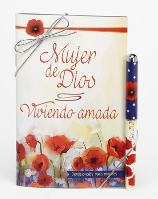 Viviendo Amada, Juego de Lapicero y Libro Devocional  (Living Loved, Devotional Book and Pen Set)  -