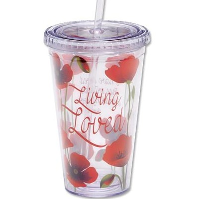 Living Loved Tumbler with Straw  -