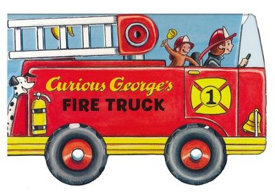 Curious George's Fire Truck (mini movers shaped board books)  -     By: H.A. Rey