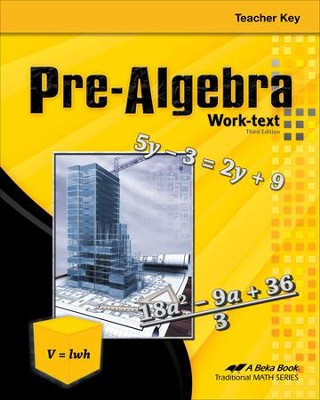 Pre-Algebra Teacher Key, Third Edition   -