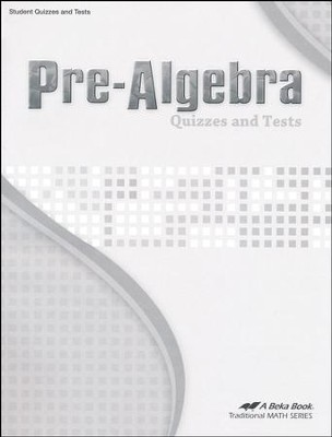 Pre-Algebra Quizzes and Tests   -