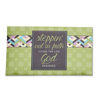 Stepping Out In Faith, 7 Scripture Cards and Wallet  -