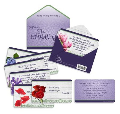The Woman God Sees, 7 Scripture Cards and Wallet  -