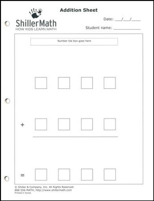 ShillerMath 24-Page Addition Worksheets Pad   -