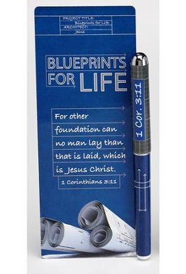 Blueprints For Life, Pen & Jumbo Bookmark Set   -