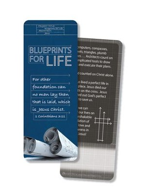 Blueprints For Life, Jumbo Bookmark, KJV  -
