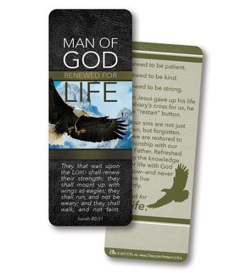Man of God, Jumbo Bookmark     -