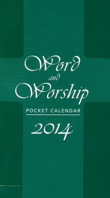Word and Worship Pocket Calendar 2014  -     By: Don Brophy