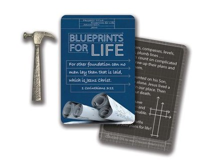 Blueprints For Life, Pocket Token, Hammer, and Card, KJV   -