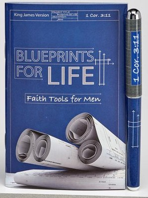 Blueprints For Life, Pen & Pocket-Size Devotion Book Gift Set, KJV  -