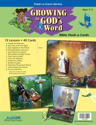 Growing in God's Word Beginner (ages 4 & 5) Bible Stories  -