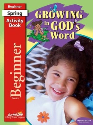 Growing in God's Word Beginner (ages 4 & 5) Activity Book  -