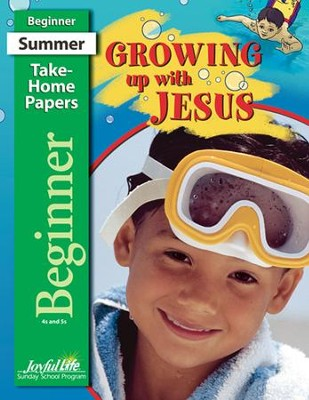 Growing Up with Jesus Beginner (ages 4 & 5) Take-Home Papers  -