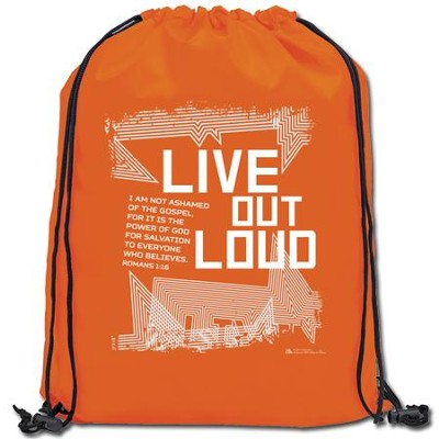 Live Out Loud Drawstring Backpack  -