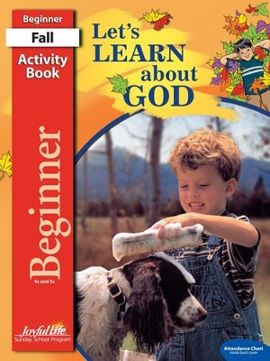 Let's Learn About God Beginner (ages 4 & 5) Activity Book, Revised Edition  -