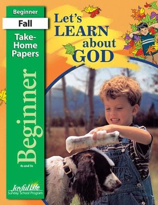 Let's Learn About God Beginner (ages 4 & 5) Take-Home Papers, Revised Edition  -
