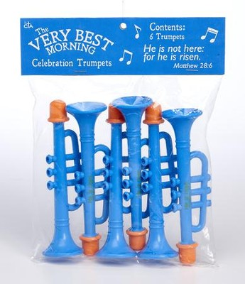 He Is Risen Toy Trumpet Whistle, Pack of 6  -