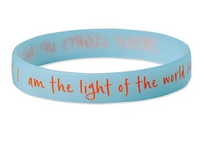 Jesus Lights Up My Life Color Changing Silicone Bracelet  -