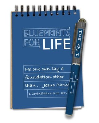 Blueprints For Life, Waterproof Notepad and Pen Set  -